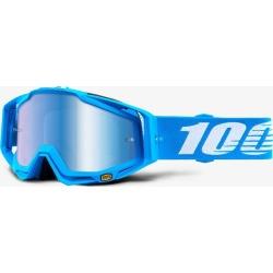100% RACECRAFT Monoblock - Mirror Blue Lens SS18